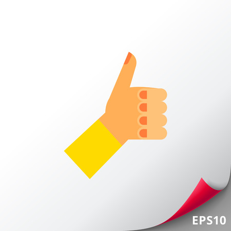 Thumb Up Vector Icon Illustration
