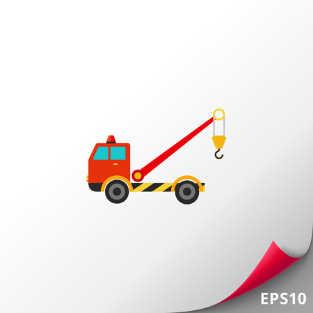 the wrecker: Tow truck with crane