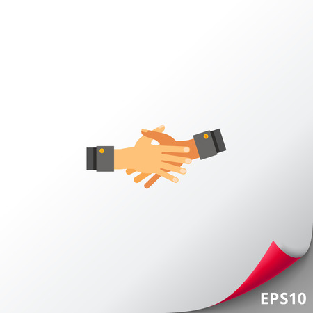 Together Hands Flat Icon Illustration
