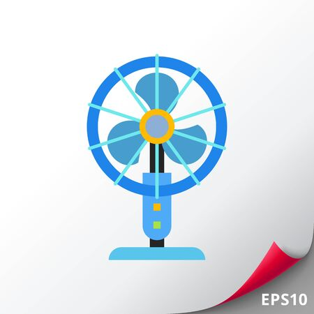Table fan vector icon Illustration