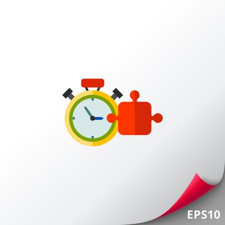 Training Concept Icon with Timer Illustration