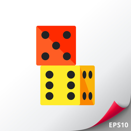 Two Dice Icon Stock Vector - 74246273