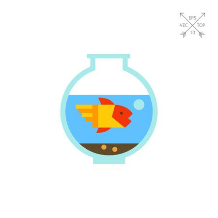 aquarium hobby: Aquarium with goldfish