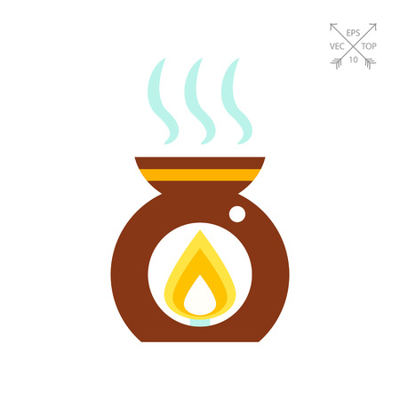 Aroma lamp icon Illustration