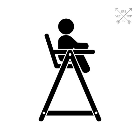 Baby Chair Simple Icon 矢量图像
