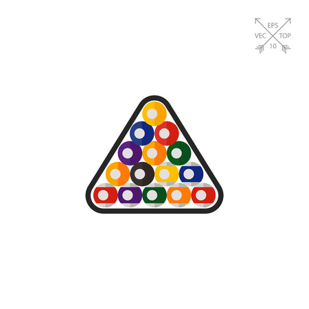 billiard ball: Billiard balls in triangle