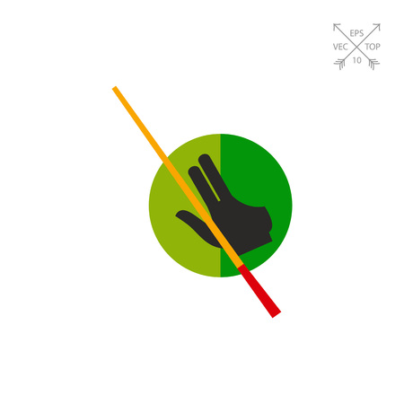 Billiard Glove and Cue Icon