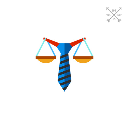 Business Law Concept Flat Icon