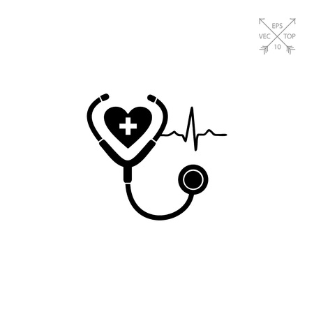infirmary: Cardiology simple icon Illustration