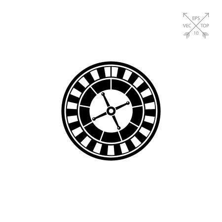 Casino Roulette Icon Illustration