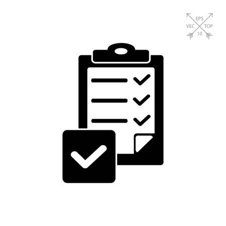 Checklist simple icon Illustration
