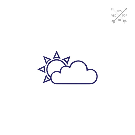 overcast: Cloudy with sunny periods Illustration