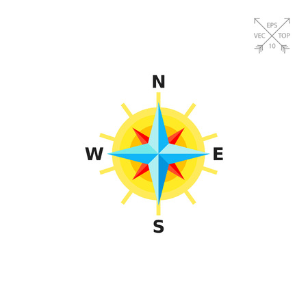 Compass Rose as Cartography Concept Icon