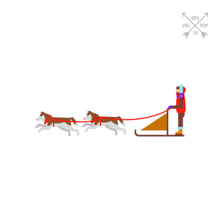 Dogteam and Sled with Man Ruling It Icon