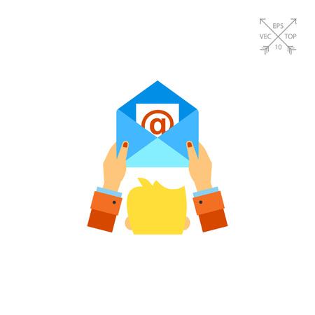 E-mail Marketing Concept Icon Illustration