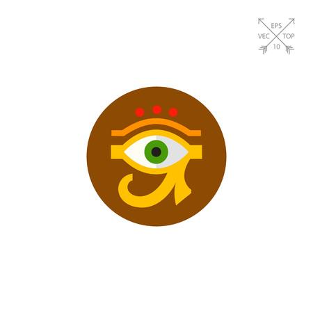 Eye of Ra or Horus Icon Illustration