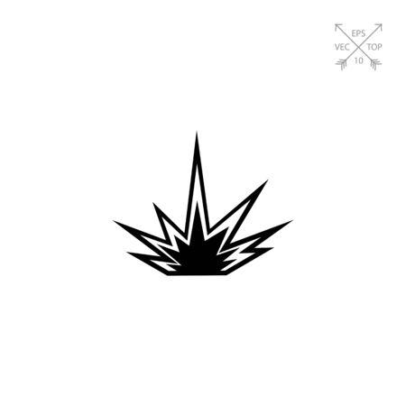 dinamita: Explosion simple icon Vectores
