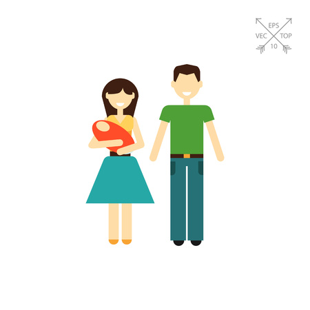 Family with baby Illustration