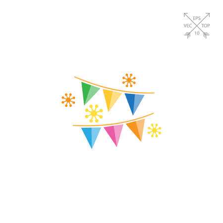 festive: Festive garland Illustration