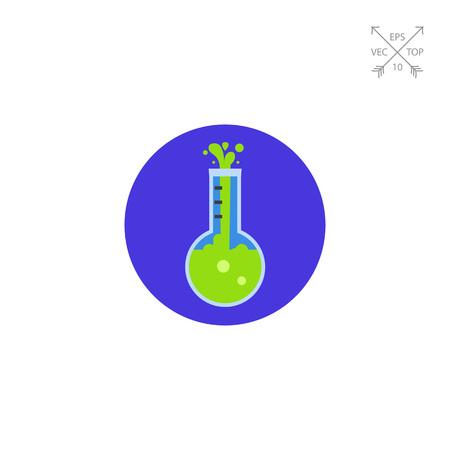 reagent: Flask flat icon Illustration