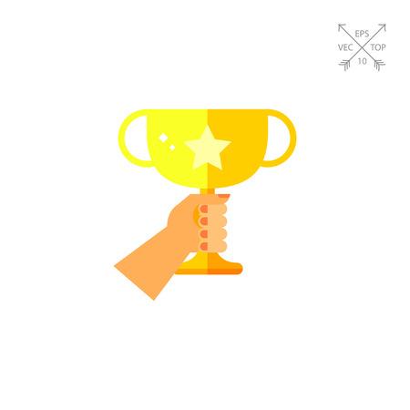 Golden Winner Cup Icon Illustration