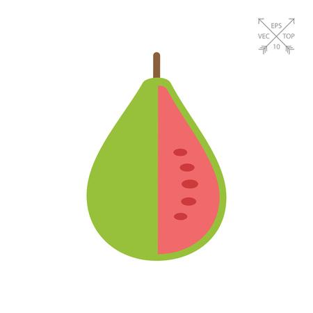 Guava fruit icon Illustration