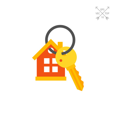 locksmith: House Keyring and Key Icon