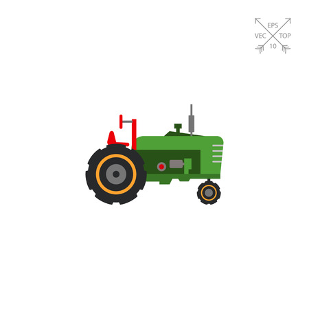 movers: Industrial tractor icon Illustration