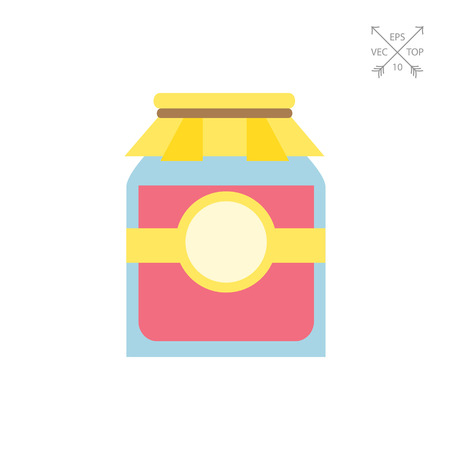 Jam jar with paper cover Illustration