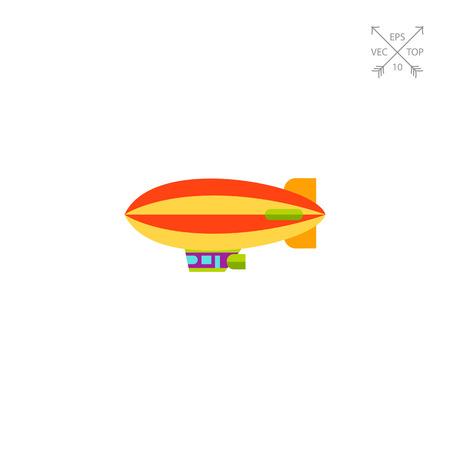 dirigible: Airship Vector Icon Illustration