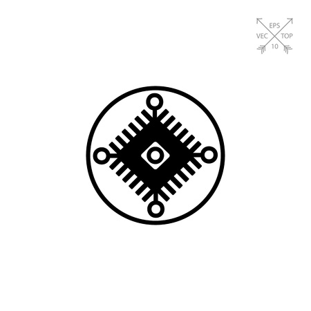cybernetics: Cybernetics simple icon Illustration