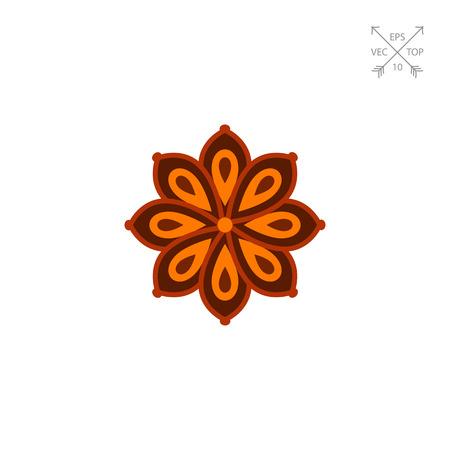 Anise star icon Illustration