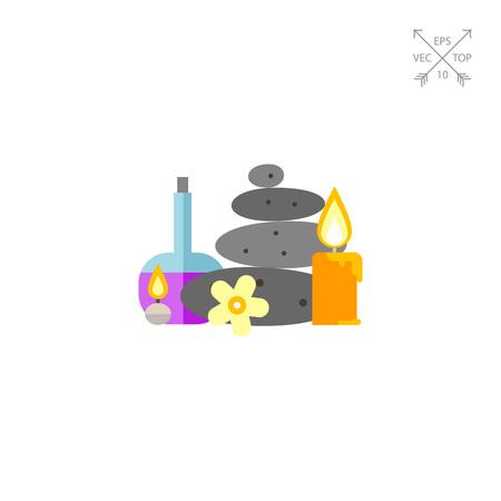massage symbol: Aroma spa things icon