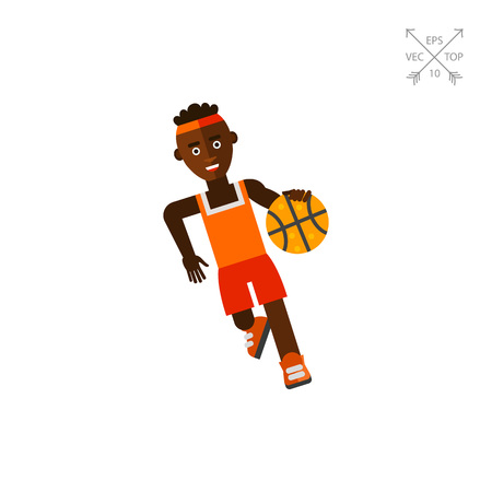 Basketball Player Moving Dribble Icon