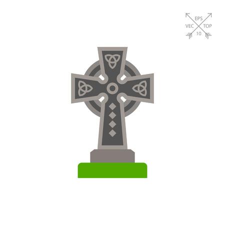 Celtic cross vector icon