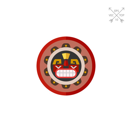 Canadian native mask icon Illustration