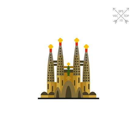 Catholic church Sagrada Familia icon