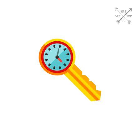 Clock on Key Icon