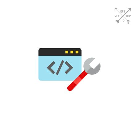 hypertext: Code repair icon