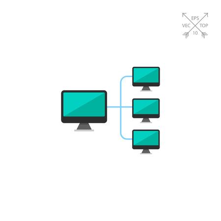 Computer network icon Illustration