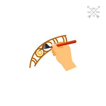 Creating traditional batik canting icon