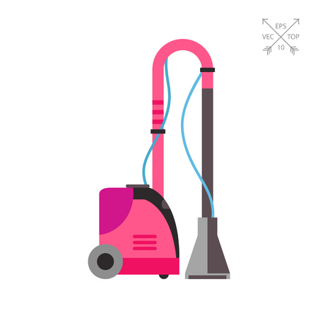Electric fabric steamer vector icon