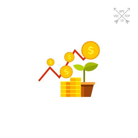 increasing: Financial Business Plan Concept Icon Illustration