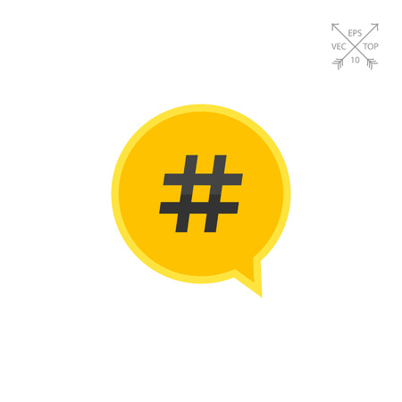 microblogging: Hashtag symbol in dialogue cloud