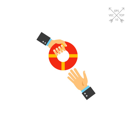 Helping business to survive vector icon Illustration
