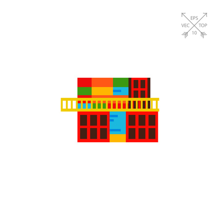 Icon of colorful building in la Boca, Argentina. Famous place, Buenos Aires, Argentina landmarks. Argentina concept. Can be used for topics like tourism, travelling, guidebooks