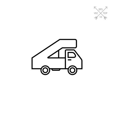 Icon of truck with landing ramp