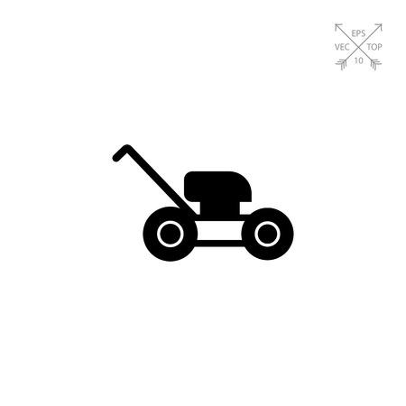 roller blade: Lawn mower icon Illustration