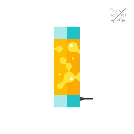 Multicolored vector icon of orange lava lamp