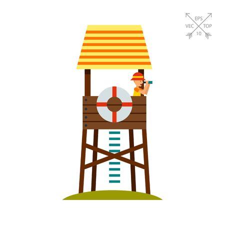 Lifeguard Tower Icon Illustration